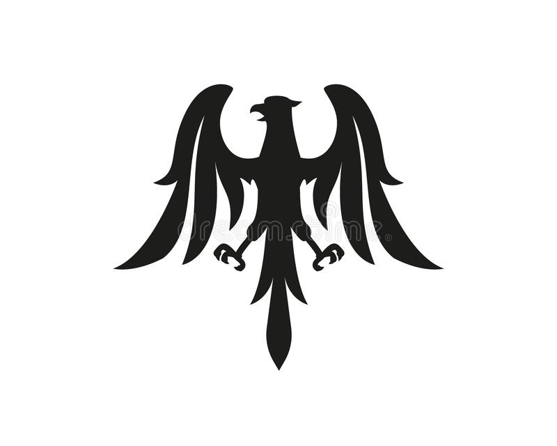 Σύμβολο αετών, λογότυπο ή έννοια δερματοστιξιών ελεύθερη απεικόνιση δικαιώματος