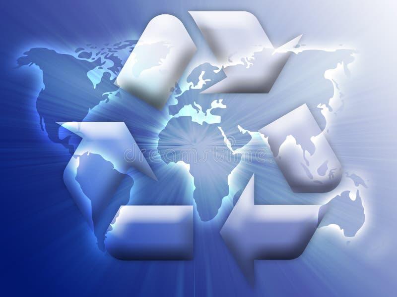 σύμβολο ανακύκλωσης eco διανυσματική απεικόνιση