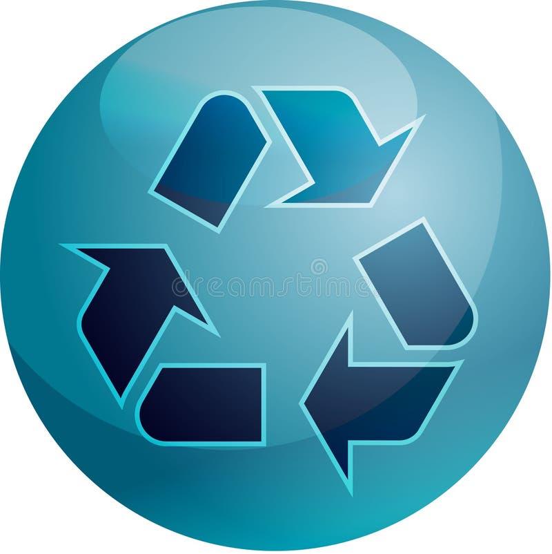 σύμβολο ανακύκλωσης eco ελεύθερη απεικόνιση δικαιώματος