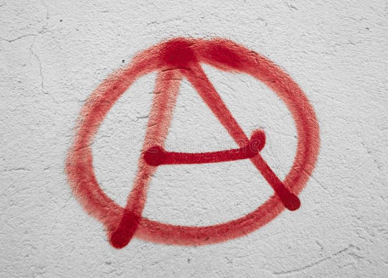 Σύμβολο αναρχίας στοκ φωτογραφία