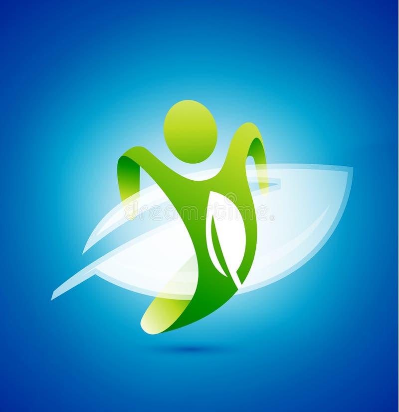 Σύμβολο ατόμων οικολογίας. Περιβαλλοντική έννοια ελεύθερη απεικόνιση δικαιώματος