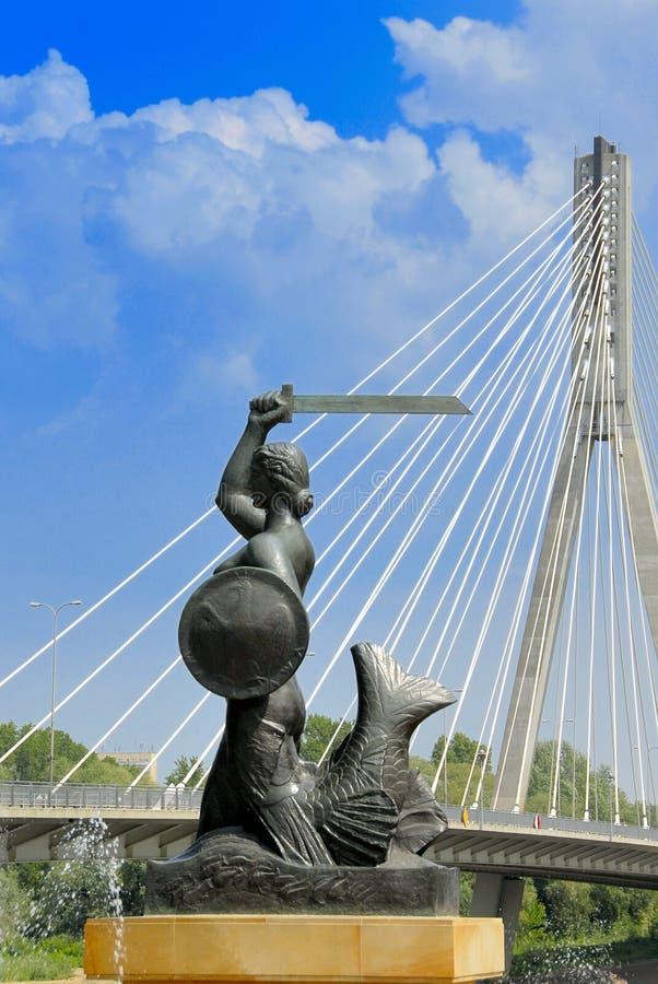 σύμβολο Βαρσοβία στοκ φωτογραφίες