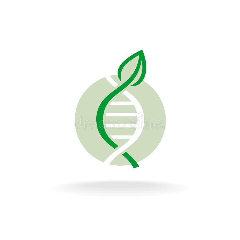 Σύμβολο γενετικής εφαρμοσμένης μηχανικής φύσης εγκαταστάσεων ελεύθερη απεικόνιση δικαιώματος