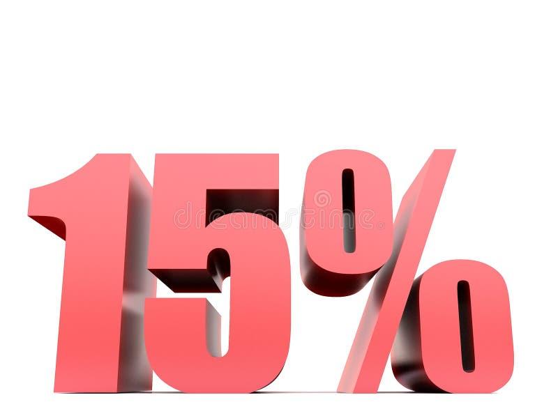 Σύμβολο δεκαπέντε τοις εκατό ελεύθερη απεικόνιση δικαιώματος