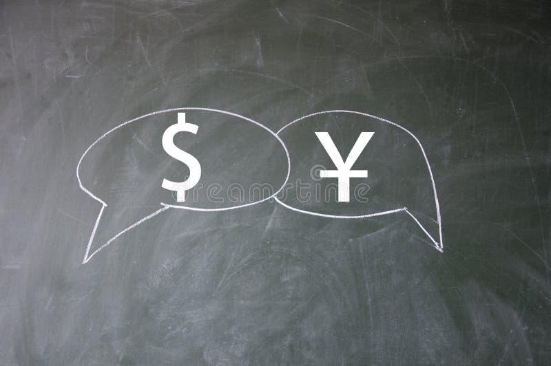 σύμβολο δολαρίων yuan στοκ φωτογραφία με δικαίωμα ελεύθερης χρήσης
