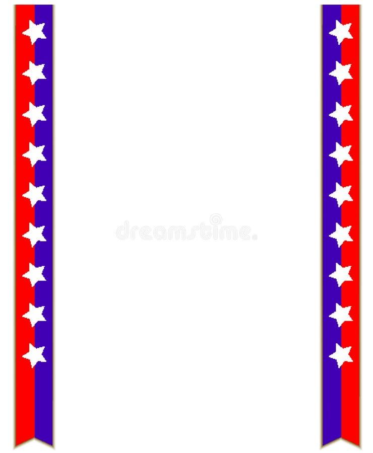 Σύμβολο δύο ΑΜΕΡΙΚΑΝΙΚΩΝ σημαιών κορδέλλες με το διάστημα αντιγράφων για το κείμενο απεικόνιση αποθεμάτων