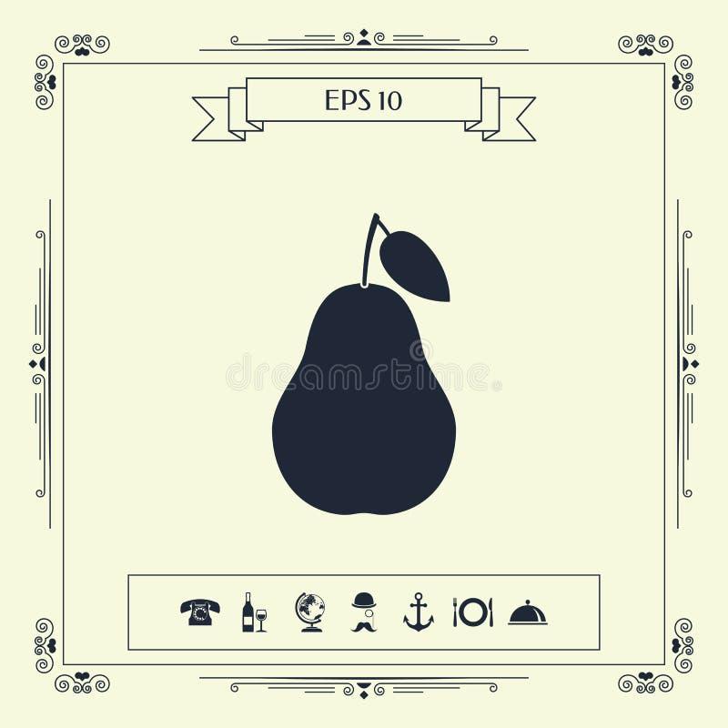 Σύμβολο εικονιδίων αχλαδιών απεικόνιση αποθεμάτων