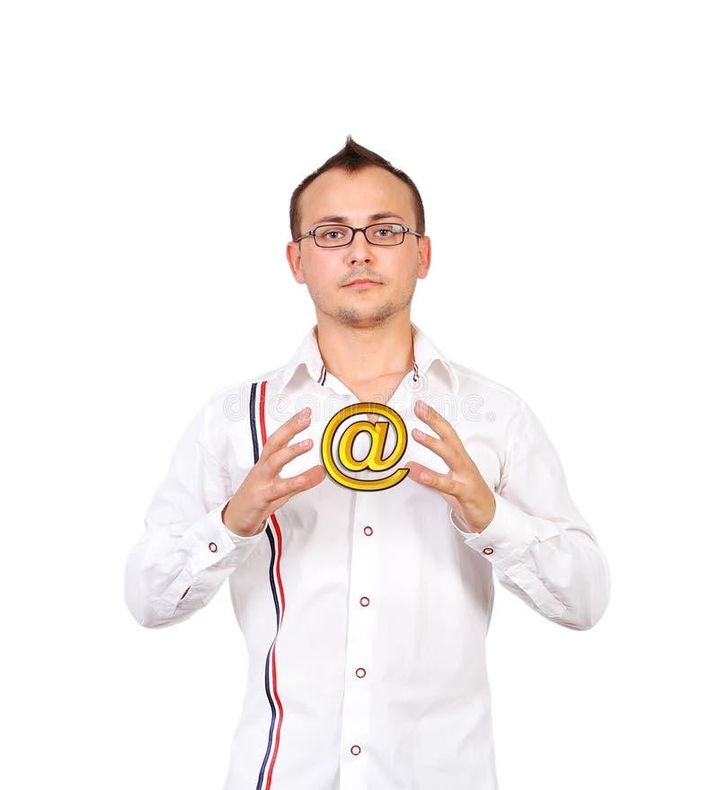 Σύμβολο ηλεκτρονικού ταχυδρομείου στοκ εικόνες με δικαίωμα ελεύθερης χρήσης