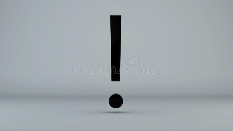 Σύμβολο θαυμαστικού στο γκρίζο υπόβαθρο στοκ εικόνες