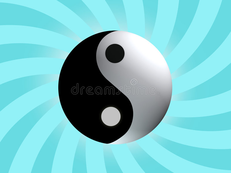 σύμβολο ισορροπίας yang yin ελεύθερη απεικόνιση δικαιώματος