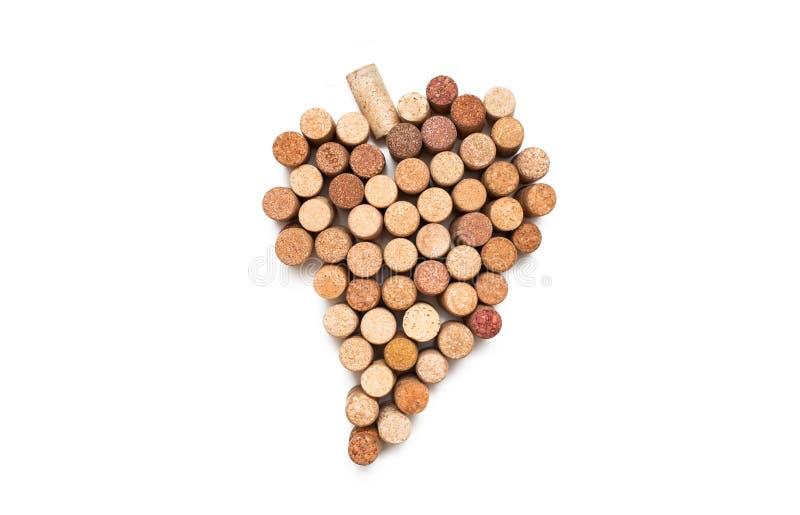 Αγάπη για το κρασί Σύμβολο καρδιών φελλού κρασιού στοκ εικόνα