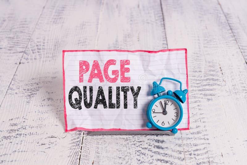 Σύμβολο κειμένου που εμφανίζει την ποιότητα σελίδας Εννοιολογική φωτογραφία Αποτελεσματικότητα μιας ιστοσελίδας όσον αφορά την εμ στοκ εικόνες με δικαίωμα ελεύθερης χρήσης