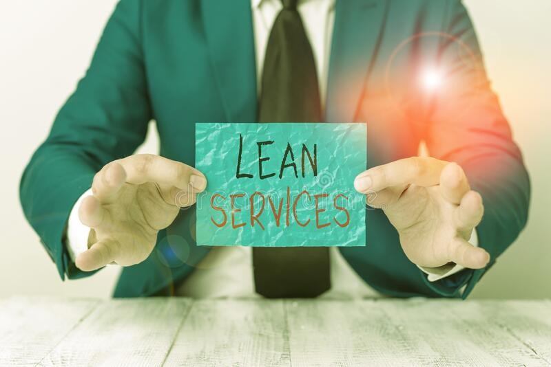 Σύμβολο κειμένου που εμφανίζει τις υπηρεσίες Lean Services Εννοιολογική εφαρμογή φωτογραφίας της ιδέας της λεπτομερούς κατασκευής στοκ φωτογραφία με δικαίωμα ελεύθερης χρήσης