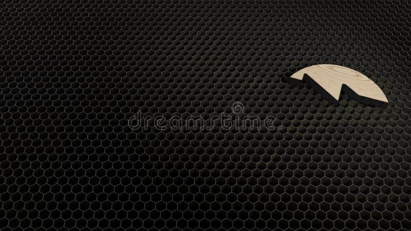 σύμβολο κοντραπλακέ περικοπών λέιζερ γρήγορου προς τα εμπρός 1 στοκ φωτογραφία με δικαίωμα ελεύθερης χρήσης