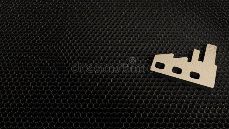σύμβολο κοντραπλακέ περικοπών λέιζερ του εργοστασίου 1 στοκ φωτογραφίες με δικαίωμα ελεύθερης χρήσης