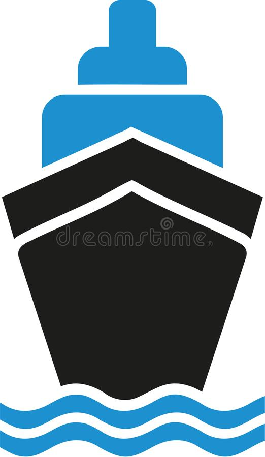 Σύμβολο κρουαζιερόπλοιων ελεύθερη απεικόνιση δικαιώματος