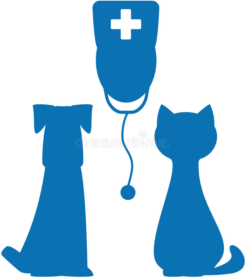 Σύμβολο κτηνιατρικού φαρμάκου διανυσματική απεικόνιση