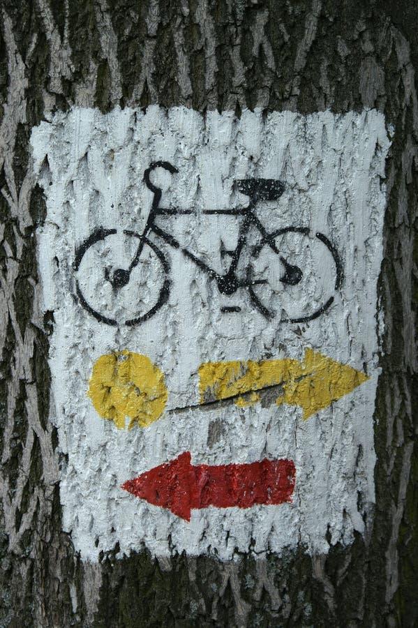 σύμβολο ποδηλάτων στοκ φωτογραφίες