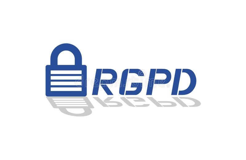 Σύμβολο προστασίας δεδομένων RGPD, στα ισπανικά ελεύθερη απεικόνιση δικαιώματος