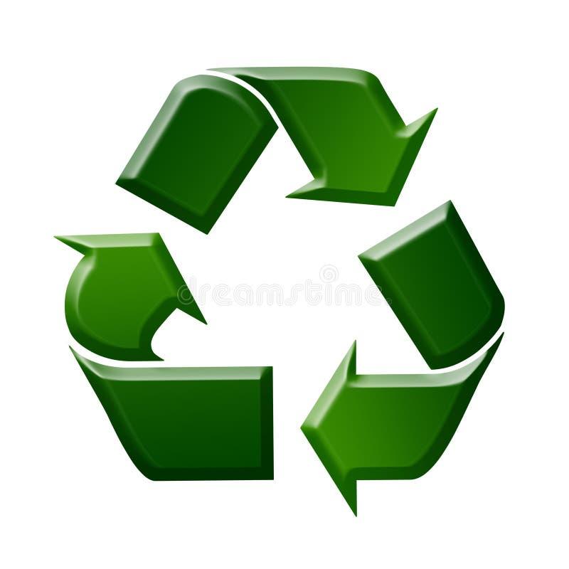 σύμβολο σημαδιών ανακύκλωσης απεικόνισης απεικόνιση αποθεμάτων