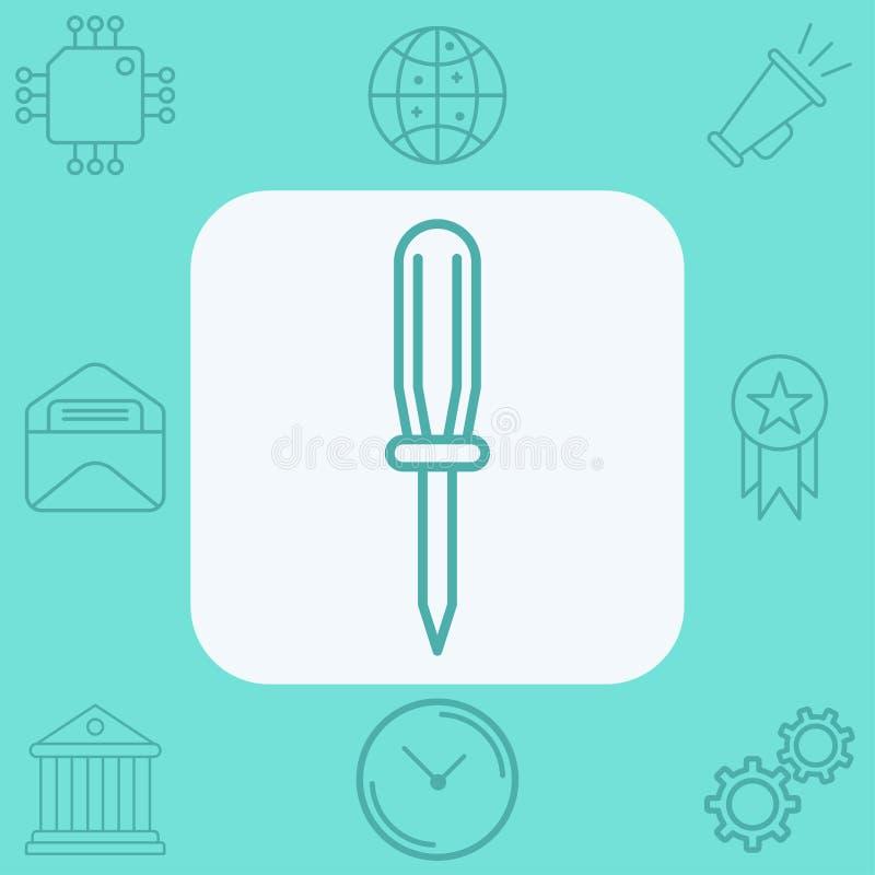 Σύμβολο σημαδιών εικονιδίων κατσαβιδιών απεικόνιση αποθεμάτων