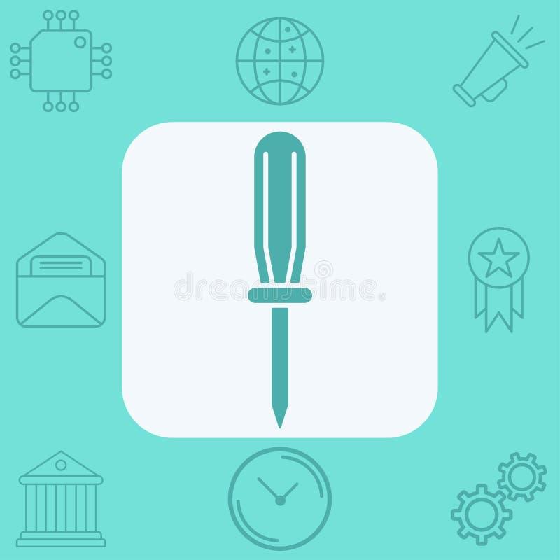 Σύμβολο σημαδιών εικονιδίων κατσαβιδιών ελεύθερη απεικόνιση δικαιώματος