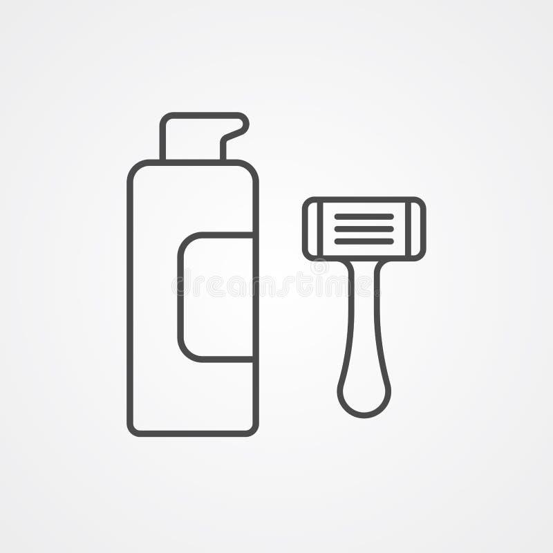 Σύμβολο σημαδιών εικονιδίων κρέμας ξυρίσματος διανυσματική απεικόνιση