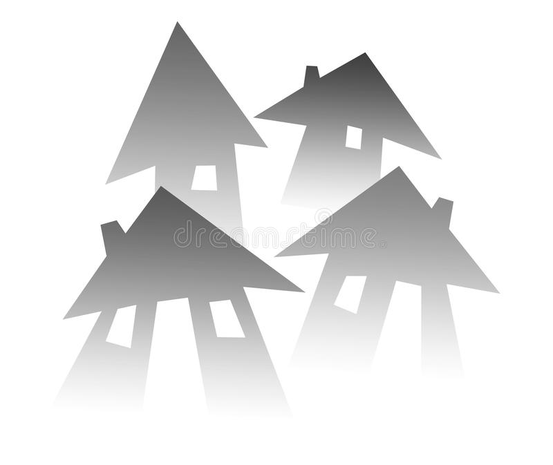 Σύμβολο σπιτιών για την ακίνητη περιουσία στοκ εικόνες με δικαίωμα ελεύθερης χρήσης
