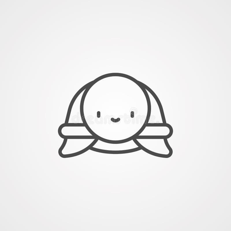 Σύμβολο συμβόλου εικονιδίου διανύσματος χελώνας διανυσματική απεικόνιση