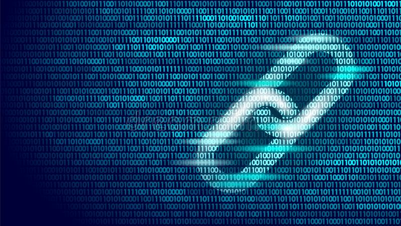 Σύμβολο συνδέσμων υπερ-κειμένου Blockchain στις δυαδικές πληροφορίες ροής στοιχείων κωδικού αριθμού μεγάλες Επιχειρησιακή έννοια  απεικόνιση αποθεμάτων