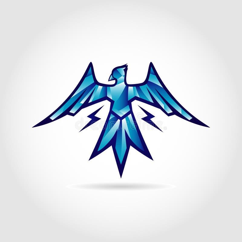 Σύμβολο σχεδίου λογότυπων πουλιών βροντής ελεύθερη απεικόνιση δικαιώματος