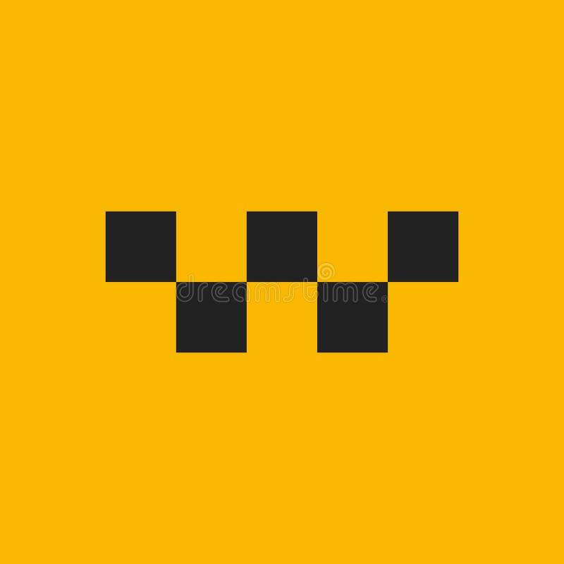 Σύμβολο ταξί Διανυσματικό εικονίδιο αμαξιών Αυτόματο σχέδιο σημαδιών υπηρεσιών ταξί Διανυσματική απεικόνιση στο κίτρινο υπόβαθρο διανυσματική απεικόνιση