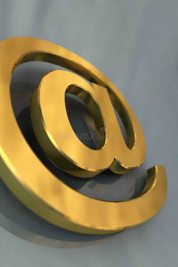 σύμβολο ταχυδρομείου ε στοκ φωτογραφία