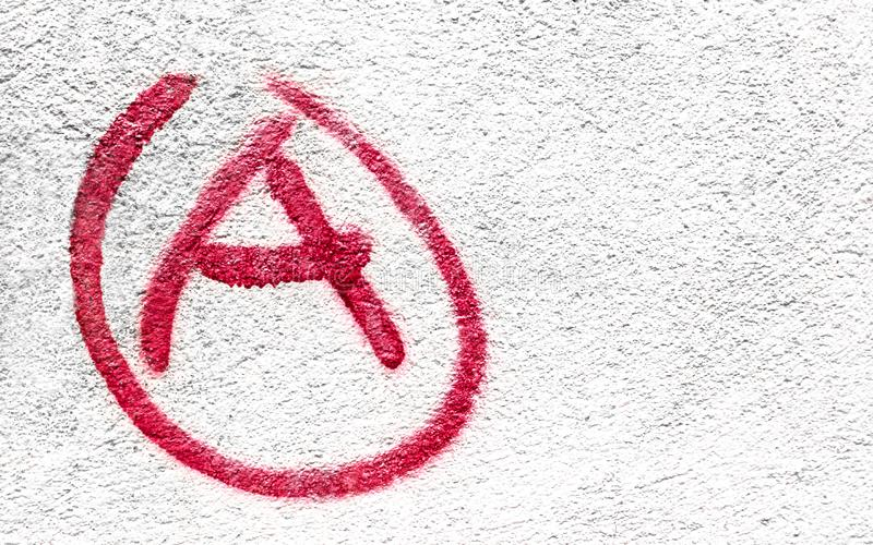 Σύμβολο της αναρχίας στοκ εικόνες με δικαίωμα ελεύθερης χρήσης