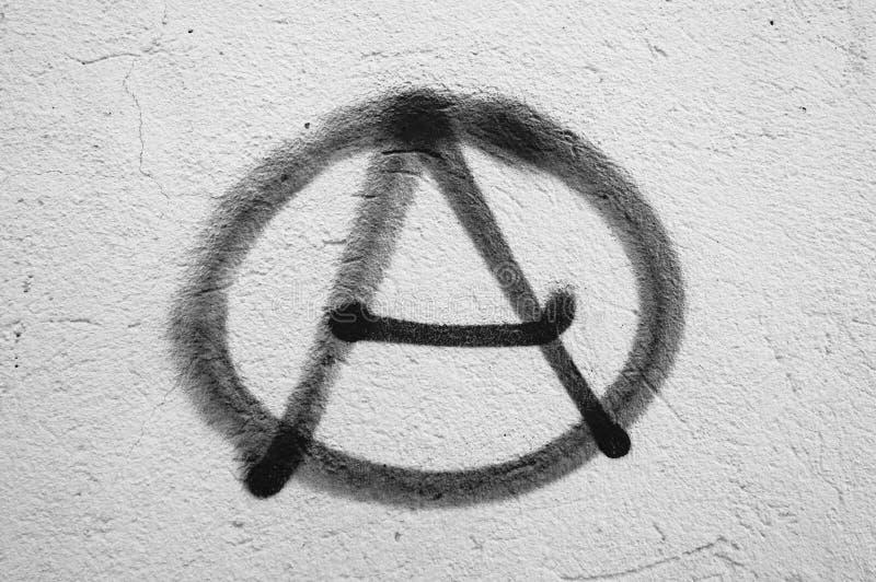 Σύμβολο της αναρχίας στοκ εικόνα
