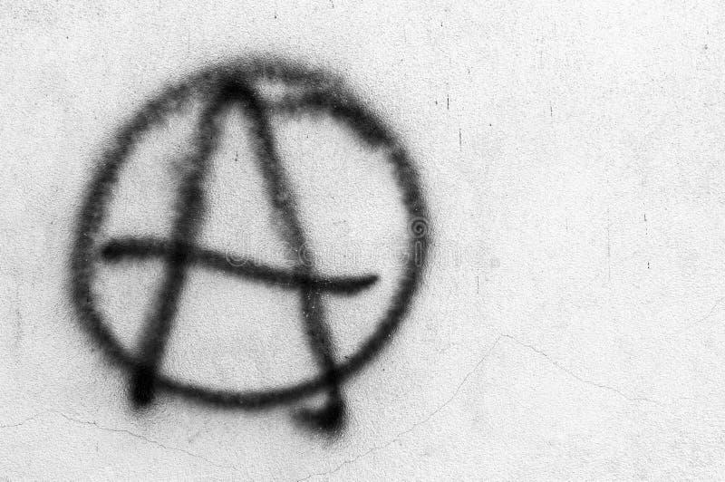 Σύμβολο της αναρχίας στοκ φωτογραφίες με δικαίωμα ελεύθερης χρήσης