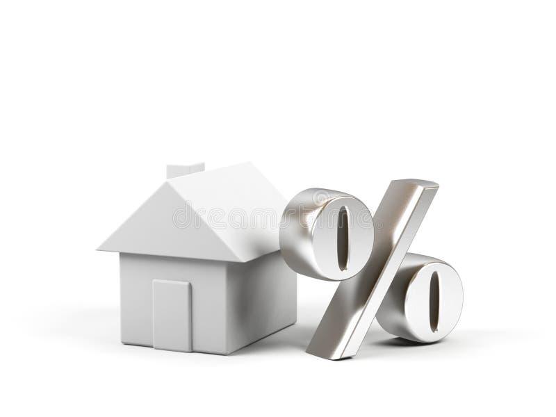 σύμβολο τοις εκατό σπιτ&io απεικόνιση αποθεμάτων