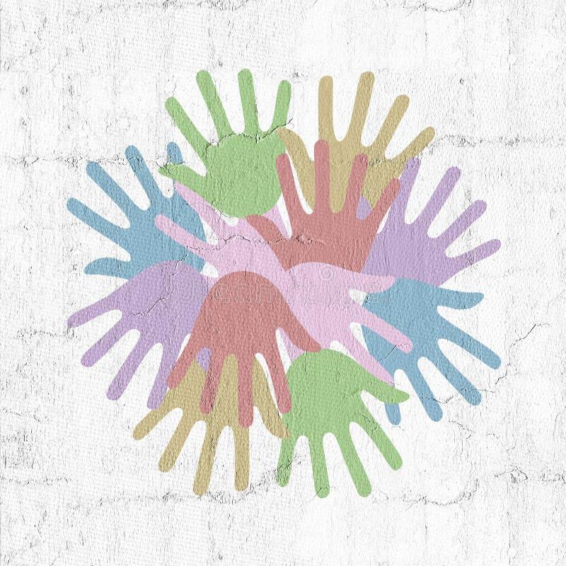 Σύμβολο χεριών χρώματος ελεύθερη απεικόνιση δικαιώματος