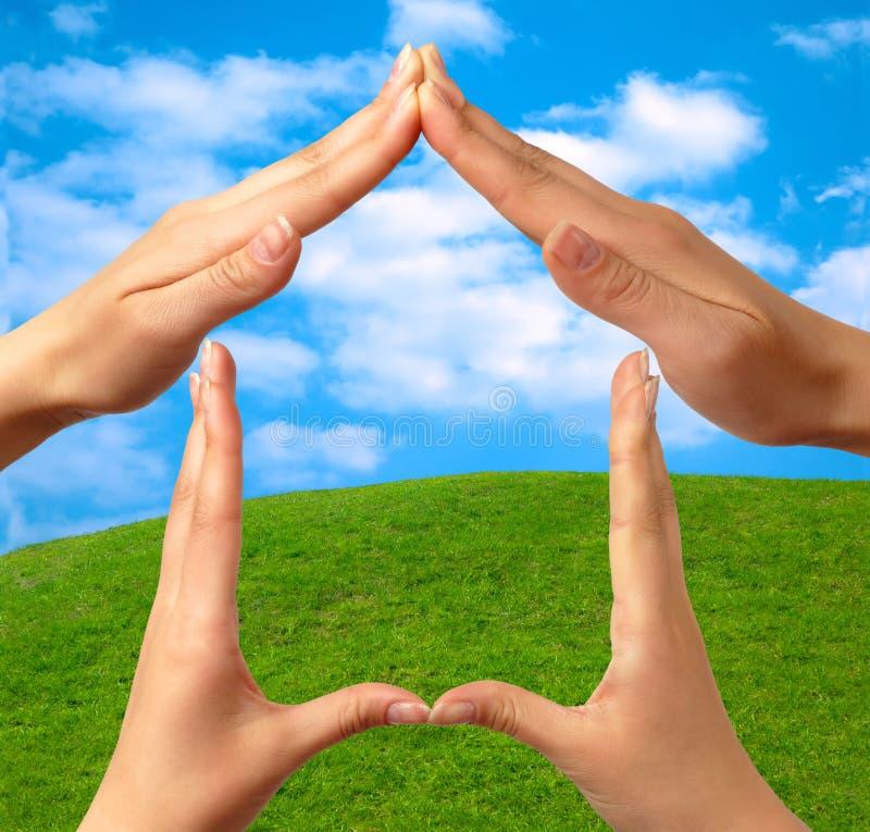 σύμβολο 3 σπιτιών στοκ εικόνα με δικαίωμα ελεύθερης χρήσης