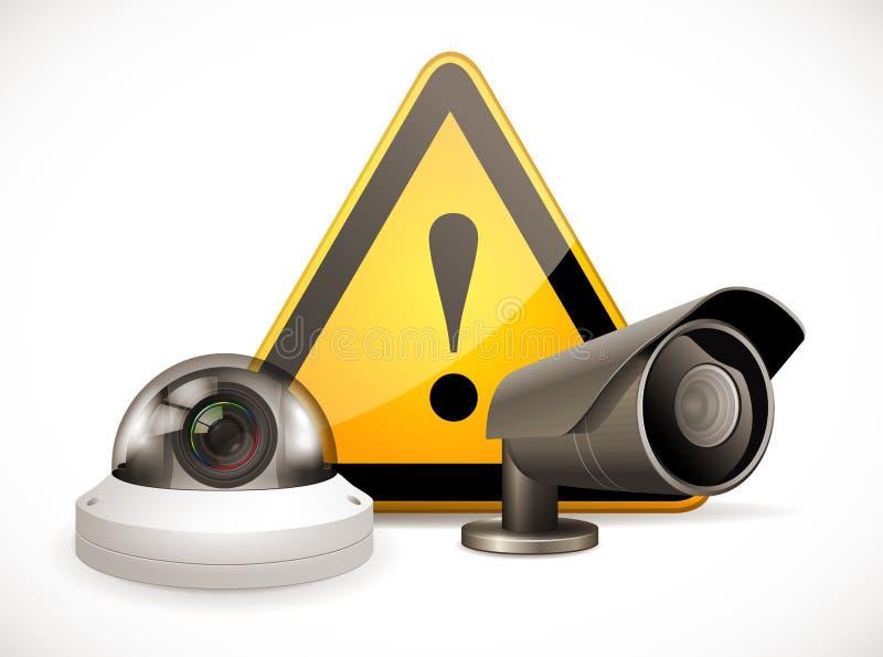 Σύμβολο CCTV - κάμερα ασφαλείας ελεύθερη απεικόνιση δικαιώματος
