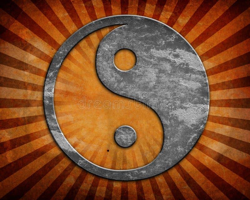 Σύμβολο Grunge yin yang ελεύθερη απεικόνιση δικαιώματος