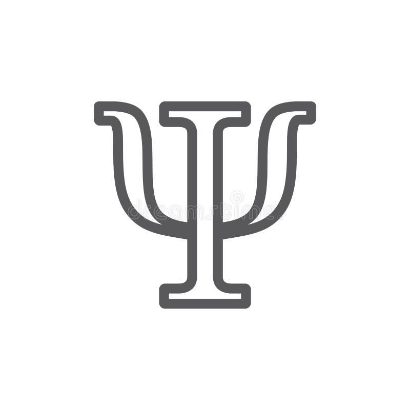 Σύμβολο PSI που απομονώνεται στο άσπρο υπόβαθρο Εικονίδιο ψυχολογίας r διανυσματική απεικόνιση