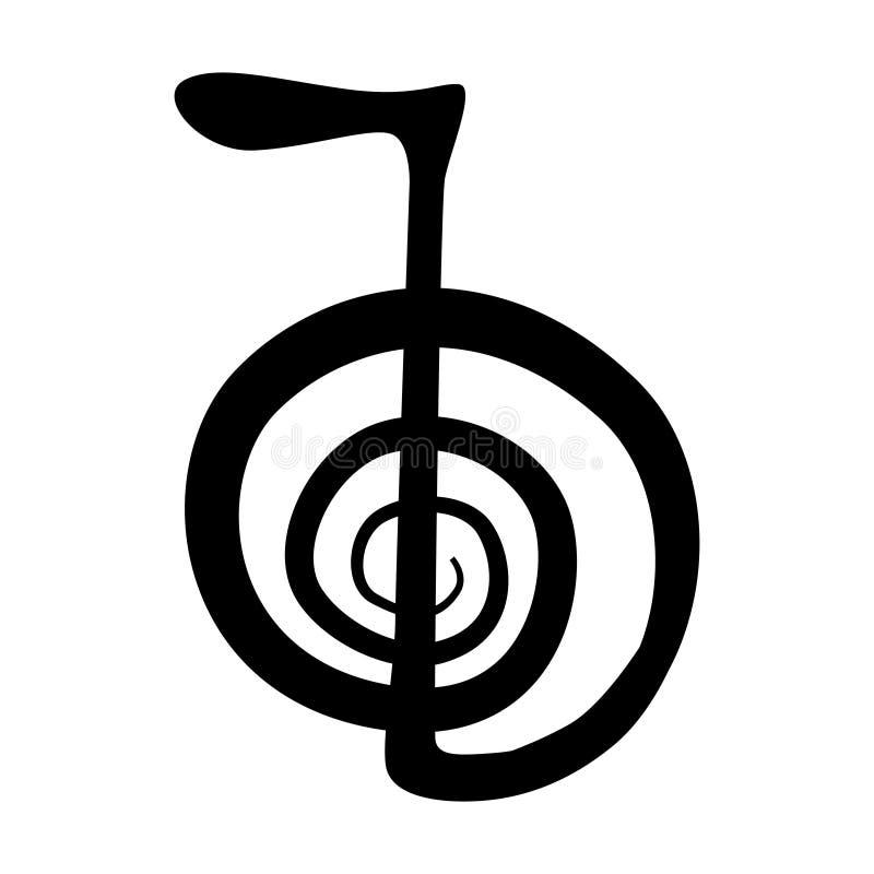 Σύμβολο Reiki για την ενεργειακή δύναμη απεικόνιση αποθεμάτων