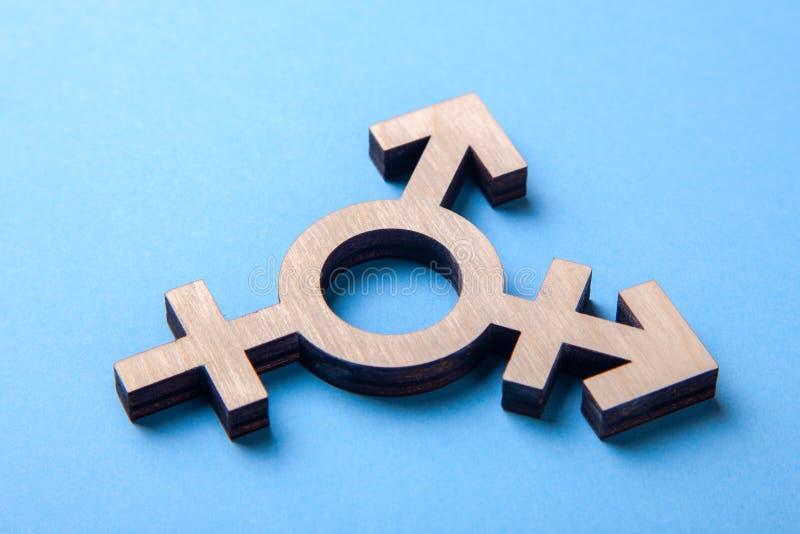 Σύμβολο transgender από το δέντρο στο μπλε στοκ εικόνες