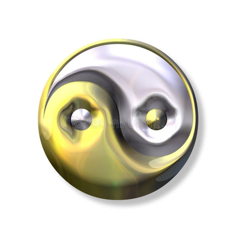 σύμβολο yang yin ελεύθερη απεικόνιση δικαιώματος