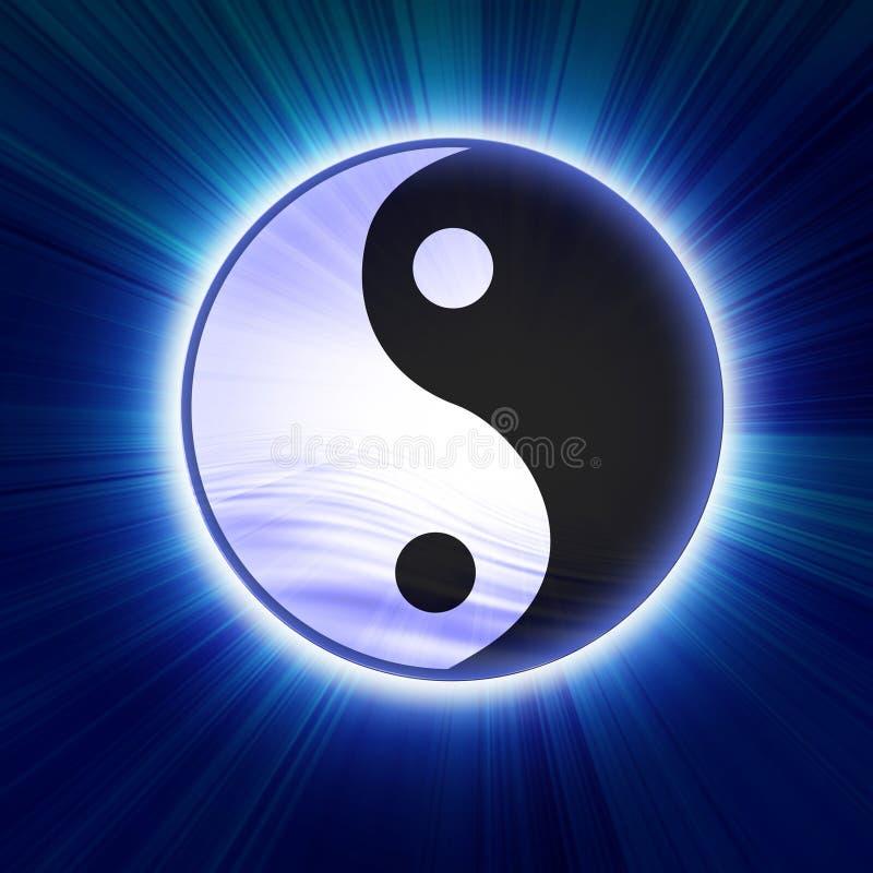 Σύμβολο Yin yang διανυσματική απεικόνιση