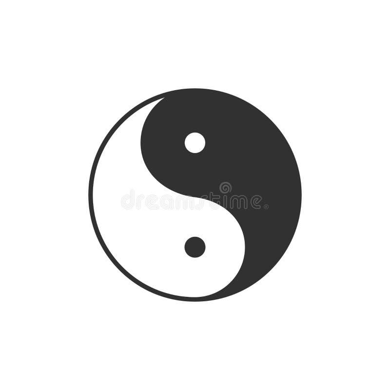 Σύμβολο Ying yang έννοια αρμονίας και ισορροπίας r ελεύθερη απεικόνιση δικαιώματος