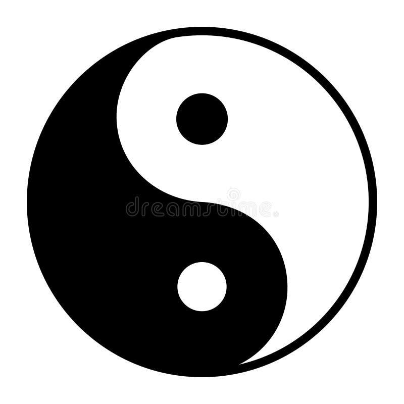 Σύμβολο Ying yang της αρμονίας και της ισορροπίας ελεύθερη απεικόνιση δικαιώματος