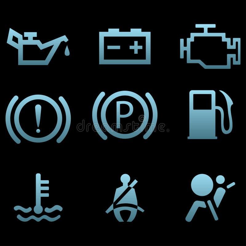 Σύμβολα διεπαφών αυτοκινήτων ελεύθερη απεικόνιση δικαιώματος