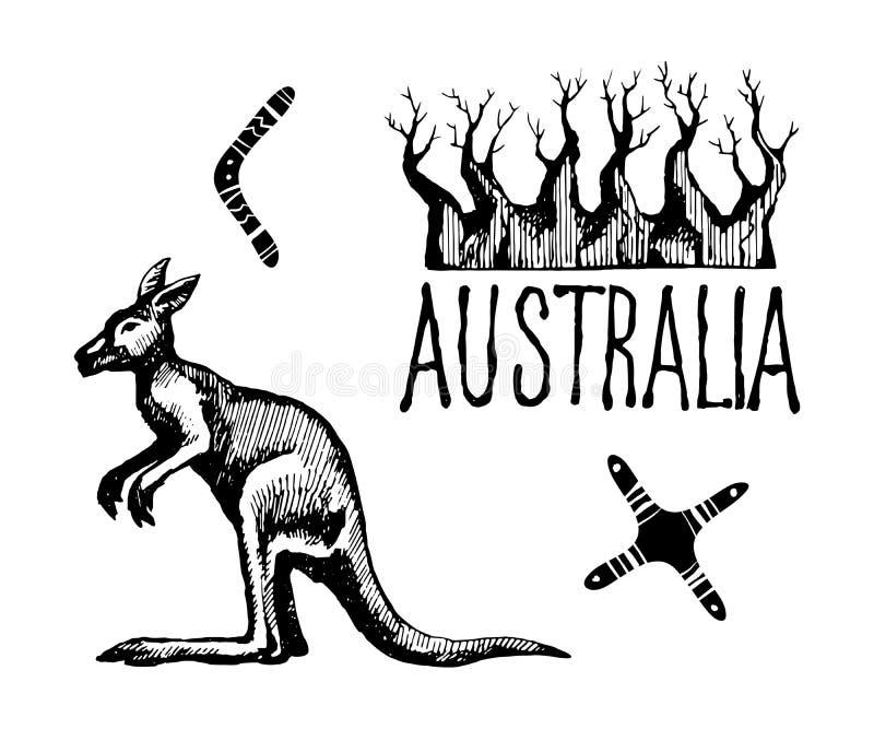 Σύμβολα και σημάδια της Αυστραλίας ελεύθερη απεικόνιση δικαιώματος